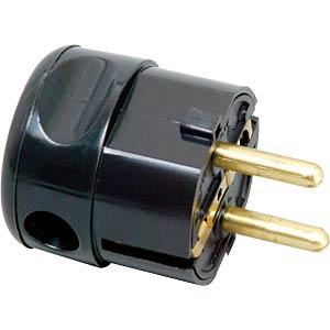 Schutzkontaktstecker Typ F - CEE 7/4, schwarz FREI