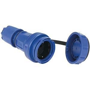 Schutzkontaktkupplung Typ F - CEE 7/3, IP66/68, blau PC ELECTRIC 20251-B