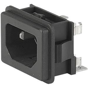 AC-Netzeinbaugerätestecker Lötanschluss, snap in SCHURTER GSF2.2011.01