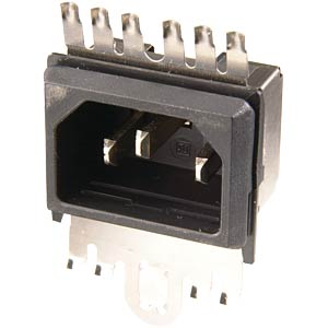 Device plug with EMC-proof shielding SCHURTER GRF2.0215.11