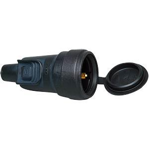 Lockable solid-rubber earthed socket KOPP 180616000