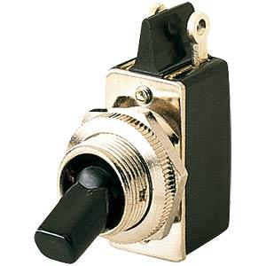 Kippschalter 2A-250VAC, 1x Aus, sw MARQUARDT 0100.1201-00