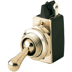 Toggle switch, 1-pole, off switch, nickel-plated MARQUARDT 0100.2901-00