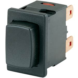 Pressure switch, 1-pole, N/O, black, momentary contact MARQUARDT 01683.1201-01