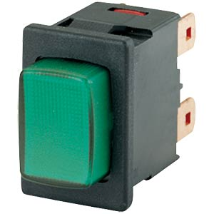 Pressure switch, 2-pole, off switch, green MARQUARDT 01687.1104-01