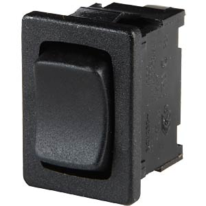 Rocker switch, 1-pin, UM, black MARQUARDT 01808.1302-00