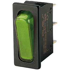 Wippschalter, 1x Aus, schwarz-grün MARQUARDT 01830.3118-02