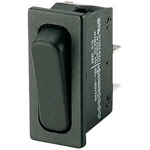 Rocker switch, 1-pin, OFF, black MARQUARDT 01831.3312-02