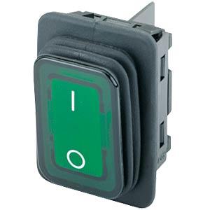 Wippschalter, 2x Aus, beleuchtet, grün, I-O MARQUARDT 01935.3118-02