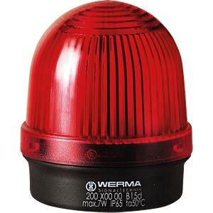 Aufbauleuchte, Bodenmontage, rot, 12-240 V WERMA SIGNALTECHNIK 200 100 00