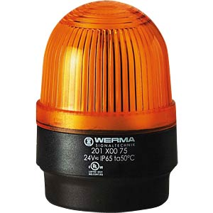 Surface-mounted LED lamp, floor, yellow 24 V AC/DC WERMA SIGNALTECHNIK 201 300 75