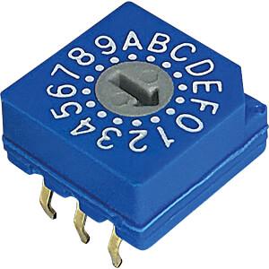 Print-Codierschalter HEX 3+2 RND COMPONENTS RND 210-00090