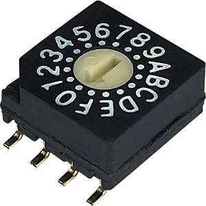 Print-Codierschalter HEX 4+1 RND COMPONENTS RND 210-00098