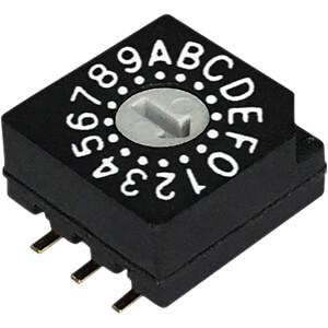 Print-Codierschalter HEX 3+3 RND COMPONENTS RND 210-00100