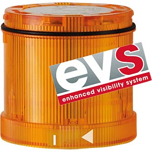 Signal element, LED EVS yellow 24 V DC WERMA SIGNALTECHNIK 644 340 55