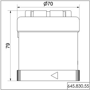 Akustikelement, Sirene, 24 V AC/DC WERMA SIGNALTECHNIK 645 830 55