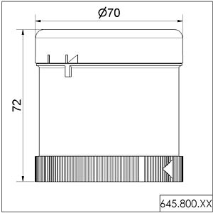 Acoustic element, buzzer 24 V AC/DC WERMA SIGNALTECHNIK 645 800 75