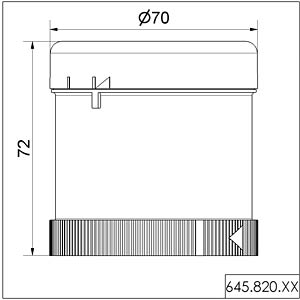 Acoustic element, siren 24 V AC/DC multi WERMA SIGNALTECHNIK 645 820 75