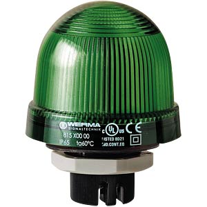 Recessed light, impact-resistant, green 12 - 240 V WERMA SIGNALTECHNIK 815 200 00