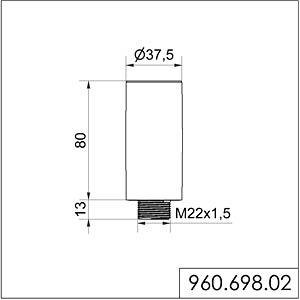 Rohrverlängerung, sw WERMA SIGNALTECHNIK 960 698 02