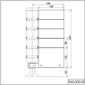 Beschriftungstafel, seitliche Montage WERMA SIGNALTECHNIK 960 000 05