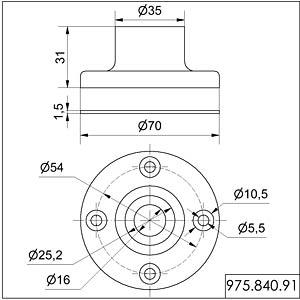 Fuß für Rohrmontage, Metall WERMA SIGNALTECHNIK 975 840 91