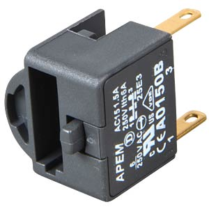 A01-ES (EMERGENCY STOP) switching block, 1 pole APEM A0150B