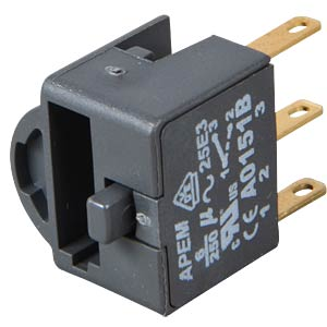 Switch block for A01, 6A, 250 V AC, SPDT APEM A0151B