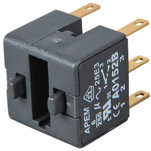 Switch block for A01, 6A, 250 V AC, DPDT APEM A0152B
