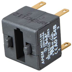 A01-ES (EMERGENCY STOP) switching block, 2 pole APEM A0154B