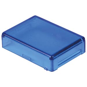 Cover for operator, rectangular, blue APEM A0161F