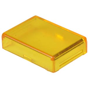 Cover for operator, rectangular, yellow APEM A0161D