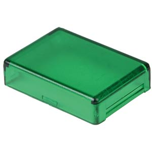 Cover for operator, rectangular, green APEM A0161E
