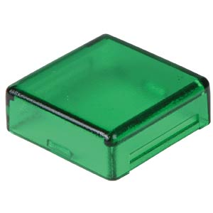 Cover for operator, square, green APEM A0162E