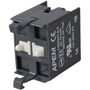 Schaltblock für A02-ES (NOT-AUS) 2-polig APEM A02511
