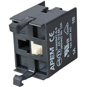 Switch block for A02-ES (EMERGENCY STOP) 1-pin APEM A02512