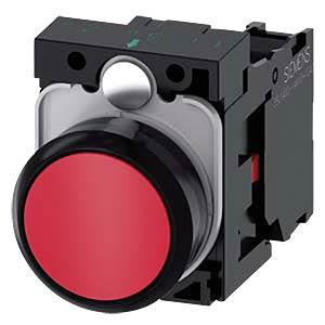 Drucktaster, 1 NC, rot, rund SIEMENS 3SU1100-0AB20-1CA0