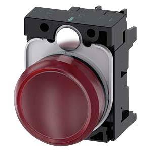 Indicator lamp, 24 V AC/DC, red SIEMENS 3SU1102-6AA20-1AA0