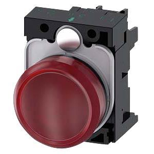 Indicator lamp, 230 V AC, red SIEMENS 3SU1106-6AA20-1AA0