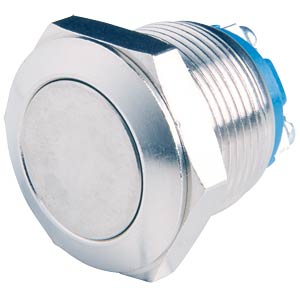 Vandal-proof push-button, 2 A 48 V, flat button APEM AV091003C900