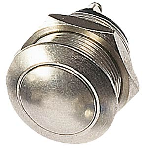 Vandal-proof push-button, 2 A 48 V, domed button APEM AV191003C900