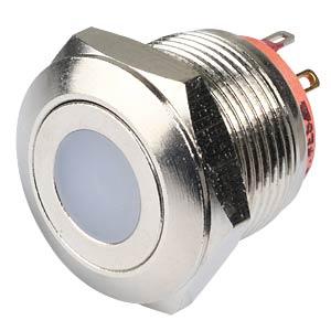 AV-Taster Ø 22/19 mm, LED-Ring gt, flach, Lötösen APEM AV09C7L3D2006