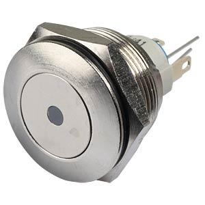 AV-Taster Ø 22 mm - 1-pol, EIN-EIN, LED blau, IP65 APEM AV031L1EA200K