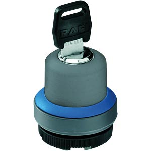 FS+ 22 — key-operated switch — round, blue, 1x90°, L-type, 0+1 RAFI 1.30.275.221/0600