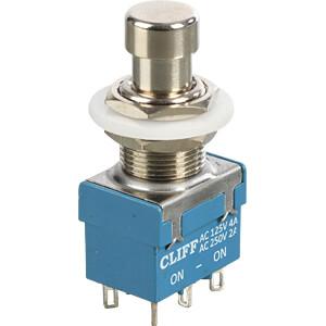 Druckschalter, 2 pol, 250 V AC / 1 A CLIFF FC71055