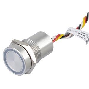 Capacitive pushbutton - Ø 16mm, 12V, LED green/red APEM CPB1110000NGSC
