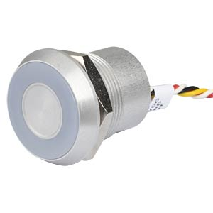 Kapazitiver Taster - Ø 22 mm, 12V, LED gn/rt APEM CPB3110000GGSC