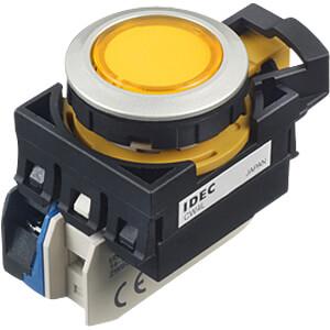 Beleuchteter Einbautaster CW, 28 mm , 1 NC, gelb IDEC CW4L-M1E01Q4Y