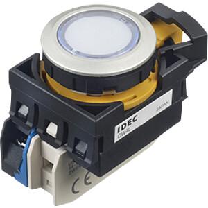 Beleuchteter Einbautaster CW, 28 mm , 1 NO, weiss IDEC CW4L-M1E10Q4PW