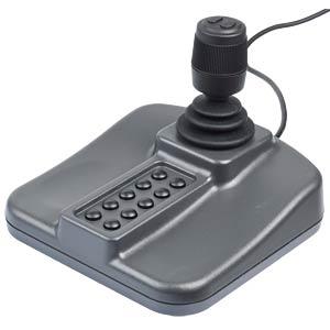 USB-Desktop Joystick, 3 achsig, Hall Effect, 10 Taster APEM 100-550-BLK-RF